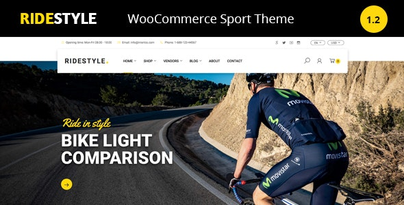 Ridestyle -Bike  Sport Store WooCommerce Theme - WooCommerce eCommerce