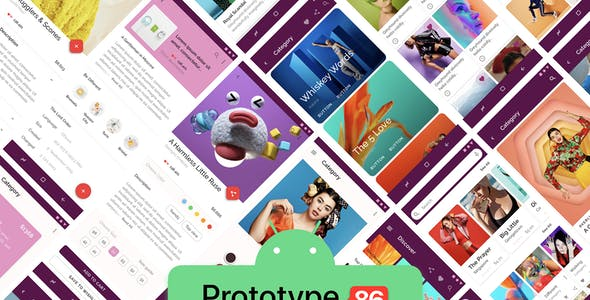 Prototype 86 - Template For Mobile App