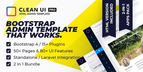 Clean UI HTML Pro — Multi Concept Admin Template by
