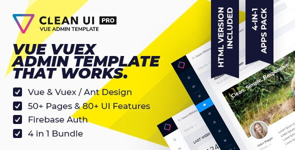 Clean UI Vue Pro — Multi Concept Admin Template by