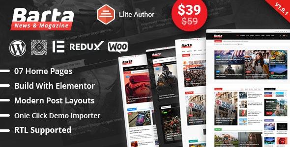 Barta - News & Magazine WordPress Theme by RadiusTheme