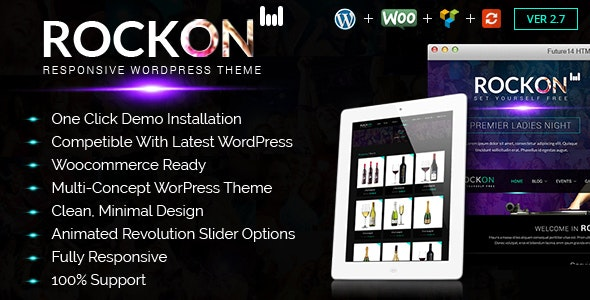 Rockon - Night Club WordPress Theme - Nightlife Entertainment