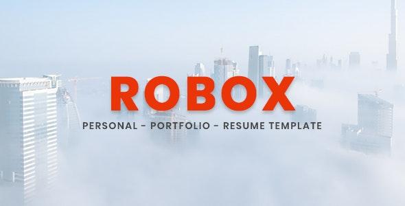 Robox - Personal Portfolio Template - Virtual Business Card Personal
