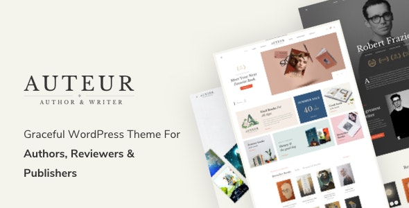 Auteur – WordPress Theme for Authors and Publishers - WooCommerce eCommerce