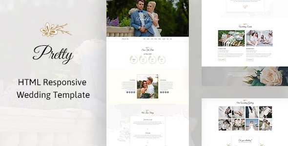Pretty - HTML Responsive Wedding Template - Wedding Site Templates