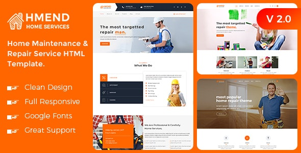 Hmend - Home Maintenance & Repair Service HTML Template - Business Corporate