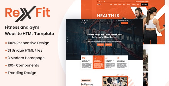 RexFit Gym and Fitness HTML5 Template - Health & Beauty Retail