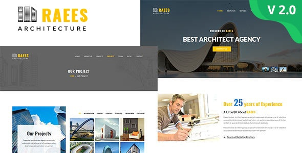 Raees – Architecture & Architect HTML Template - Business Corporate