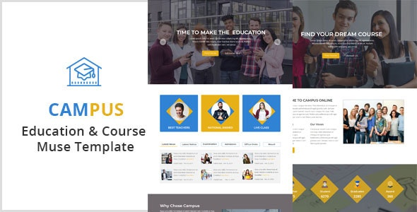 Campus-Education & Course Muse Template - Corporate Muse Templates