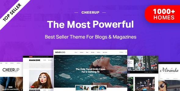 CheerUp - Blog/Magazine & Travel WordPress - Personal Blog / Magazine