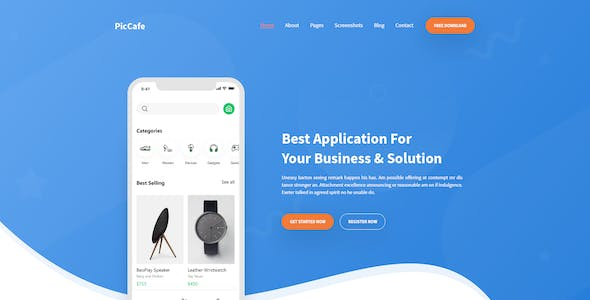 Picafe - Creative Apps Landing