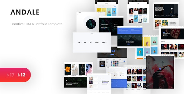 Andale - Creative HTML5 Portfolio Template by JD-Themes
