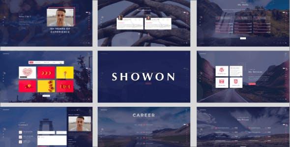 Showon - Full Screen Personal Portfolio Sketch Template