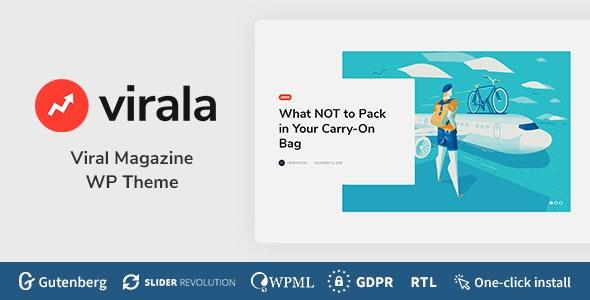 Virala - Viral Magazine WordPress Theme - News / Editorial Blog / Magazine