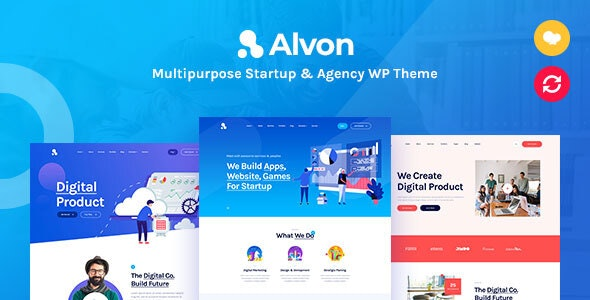 Alvon - Multipurpose Startup & Agency WordPress Theme - Business Corporate