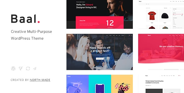 Baal - Creative Portfolio WordPress Theme - Creative WordPress