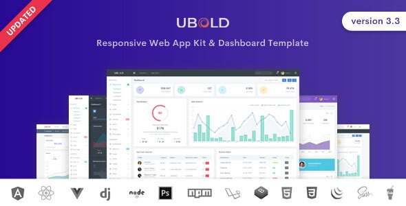 Ubold - Admin & Dashboard Template by coderthemes | ThemeForest