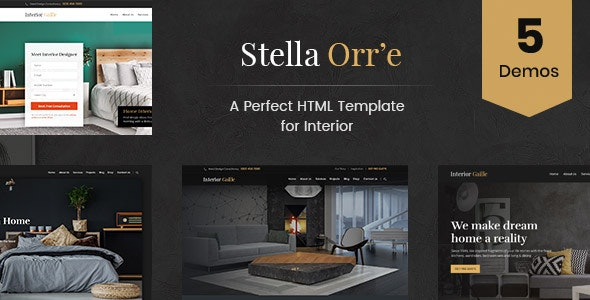 Stella Orre - Architecture And Interior HTML Template - Business Corporate