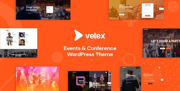 Vetex - Event & Conference WordPress Theme - Events Entertainment