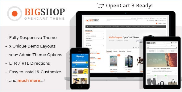 Bigshop - Responsive OpenCart Theme - OpenCart eCommerce
