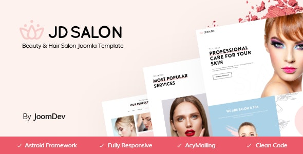 JD Salon - Joomla Template for Beauty, Spa & Hair Salon - Joomla CMS Themes
