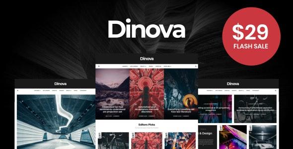 Dinova - Alternative Magazine Gutenberg Theme by 3FortyMedia