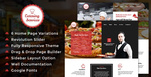 Catering WordPress Theme - Restaurants & Cafes Entertainment