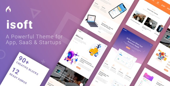Isoft - Software Landing Page by TrueThemes | ThemeForest