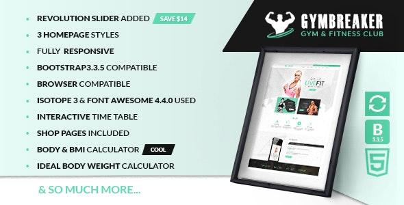 Gymbreaker HTML Template - Health & Beauty Retail
