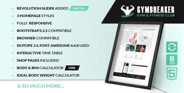 Gymbreaker HTML Template