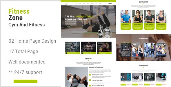 Fitness Zone - Gym And Fitness Muse Template - Muse Templates