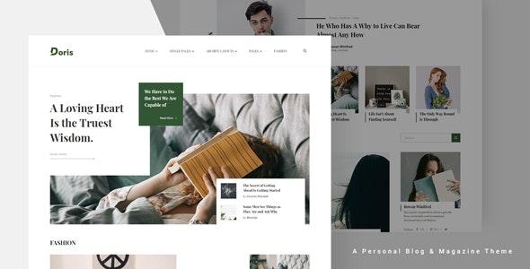 Doris - Creative WordPress Blog and Magazine Theme - News / Editorial Blog / Magazine