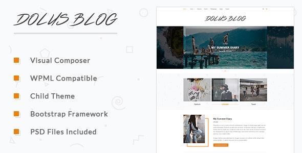Dolus - Blog WordPress Theme - Blog / Magazine WordPress