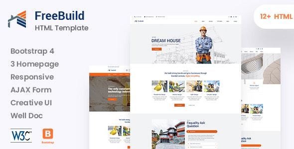 FreeBuild - Construction HTML Template - Business Corporate