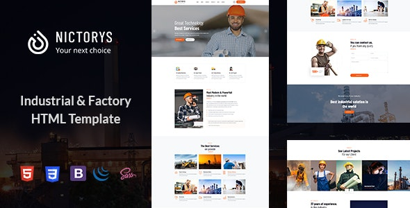 Industry & Industrial Template - Nictorys - Business Corporate