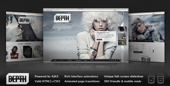 Depth HTML – Full-Screen AJAX Portfolio - Portfolio Creative