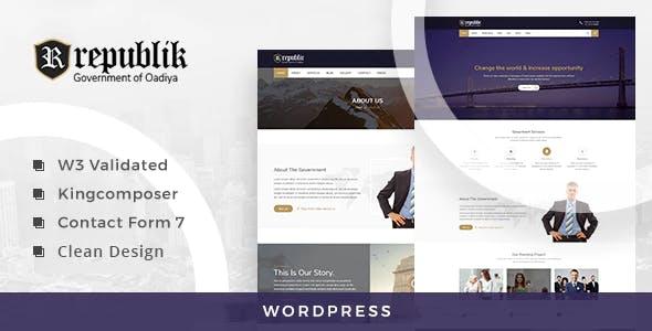 Republik - Government Portal WordPress Theme
