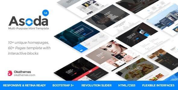 Asoda - Multi-Purpose Responsive Joomla Template - Corporate Joomla