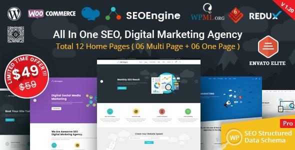 SEO Engine - Digital Marketing Agency WordPress Theme - Marketing Corporate