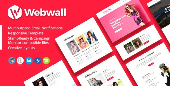 Webwall - Newsletter Template + StampReady & CampaignMonitor compatible files - Newsletters Email Templates
