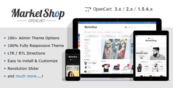 MarketShop - Multi-Purpose OpenCart Theme - OpenCart eCommerce