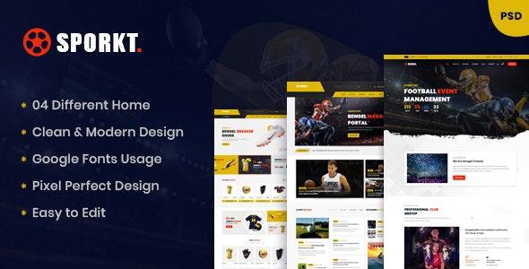 Sporkt - Club PSD Template - Business Corporate