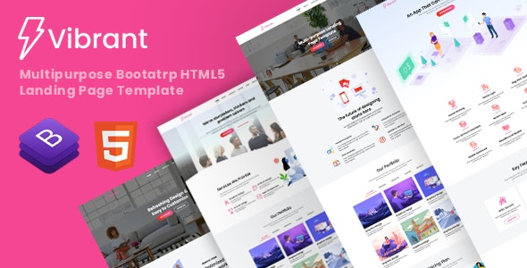 Vibrant - Multipurpose Landing Page Template - Business Corporate