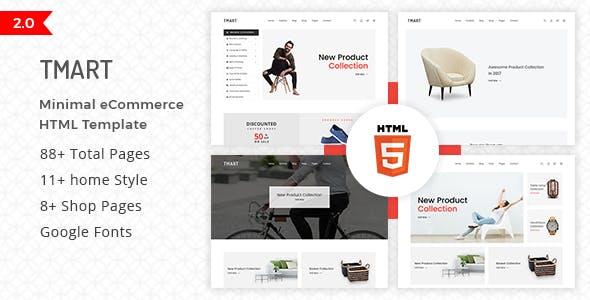 Tmart - Minimal eCommerce HTML Template