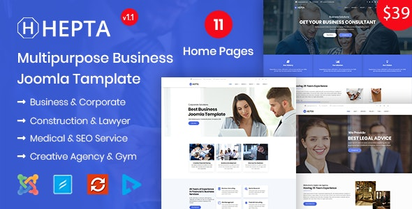 Hepta - Multipurpose Business Joomla Template - Business Corporate