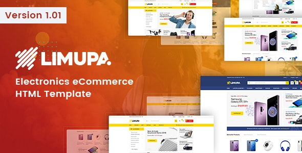 Limupa - Electronics eCommerce HTML Template - Shopping Retail