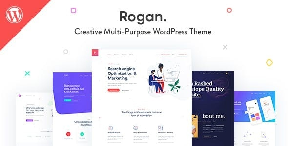 Rogan - Creative Multipurpose WordPress Theme for Agency, Saas, Portfolio - Creative WordPress