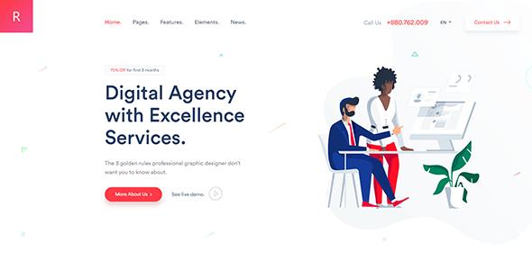 Rogan - Creative Multipurpose WordPress Theme for Agency, Saas, Portfolio