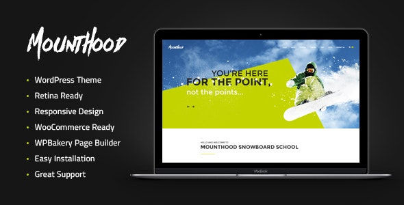Mounthood | A Modern Ski and Snowboard School WordPress Theme - Travel Retail