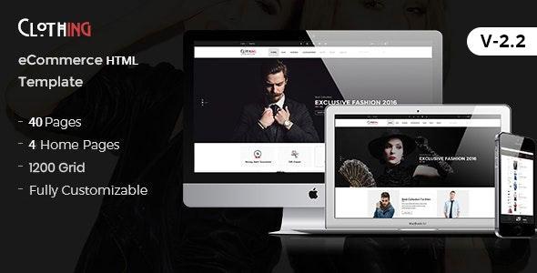 Clothing - eCommerce Fashion Template - Fashion Retail